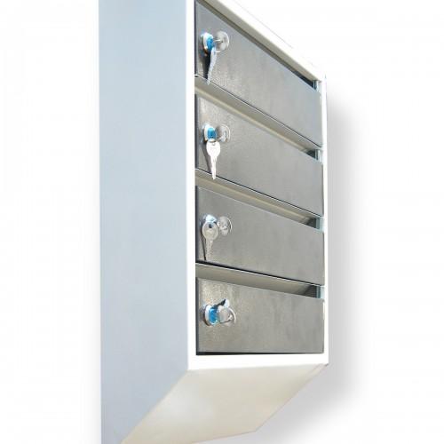 Ящик почтовый секционный на 4 секции